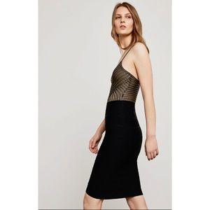 BCBG Textured Bandage Panel Bodycon Stretch Skirt